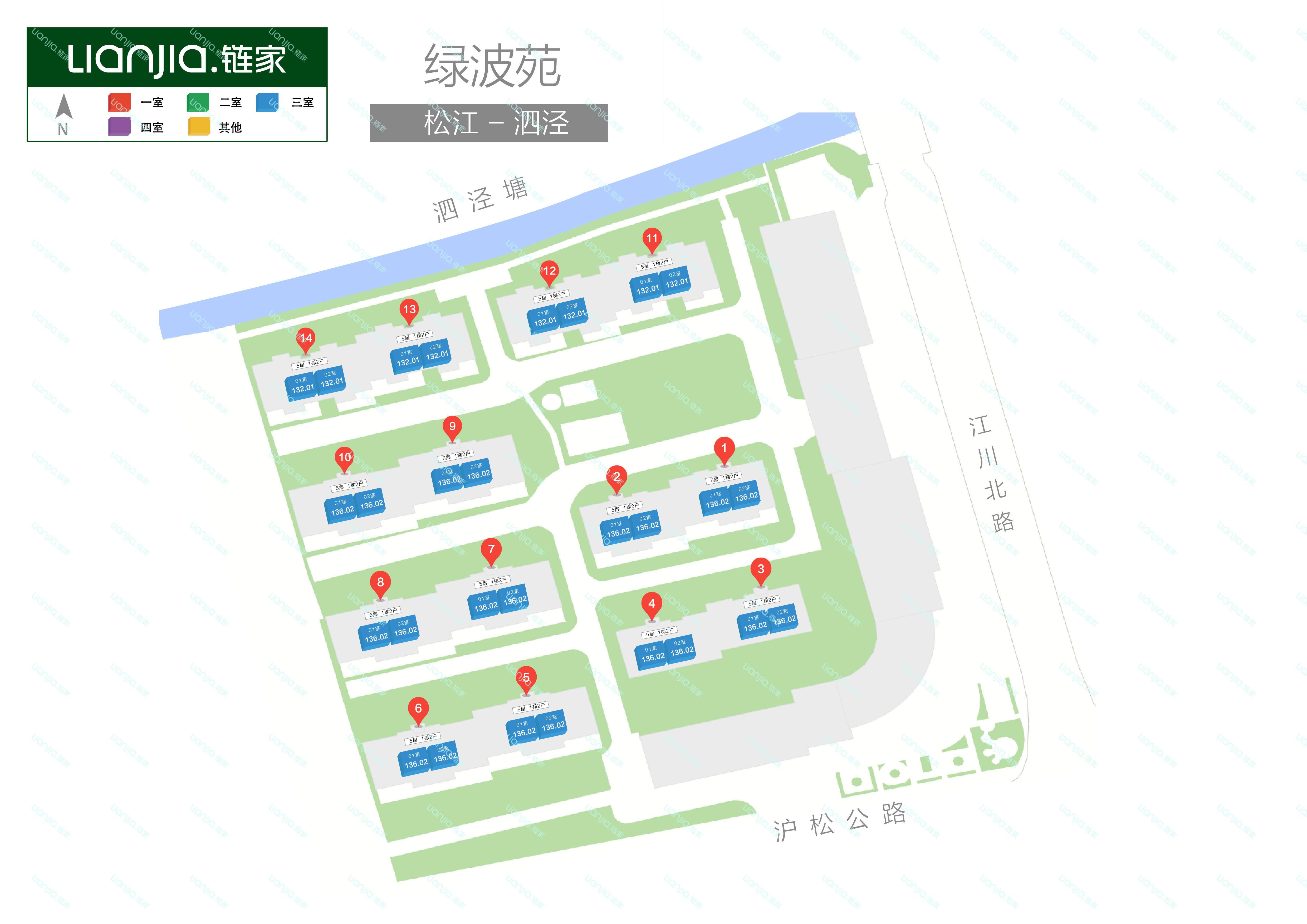 绿波缘社区地图