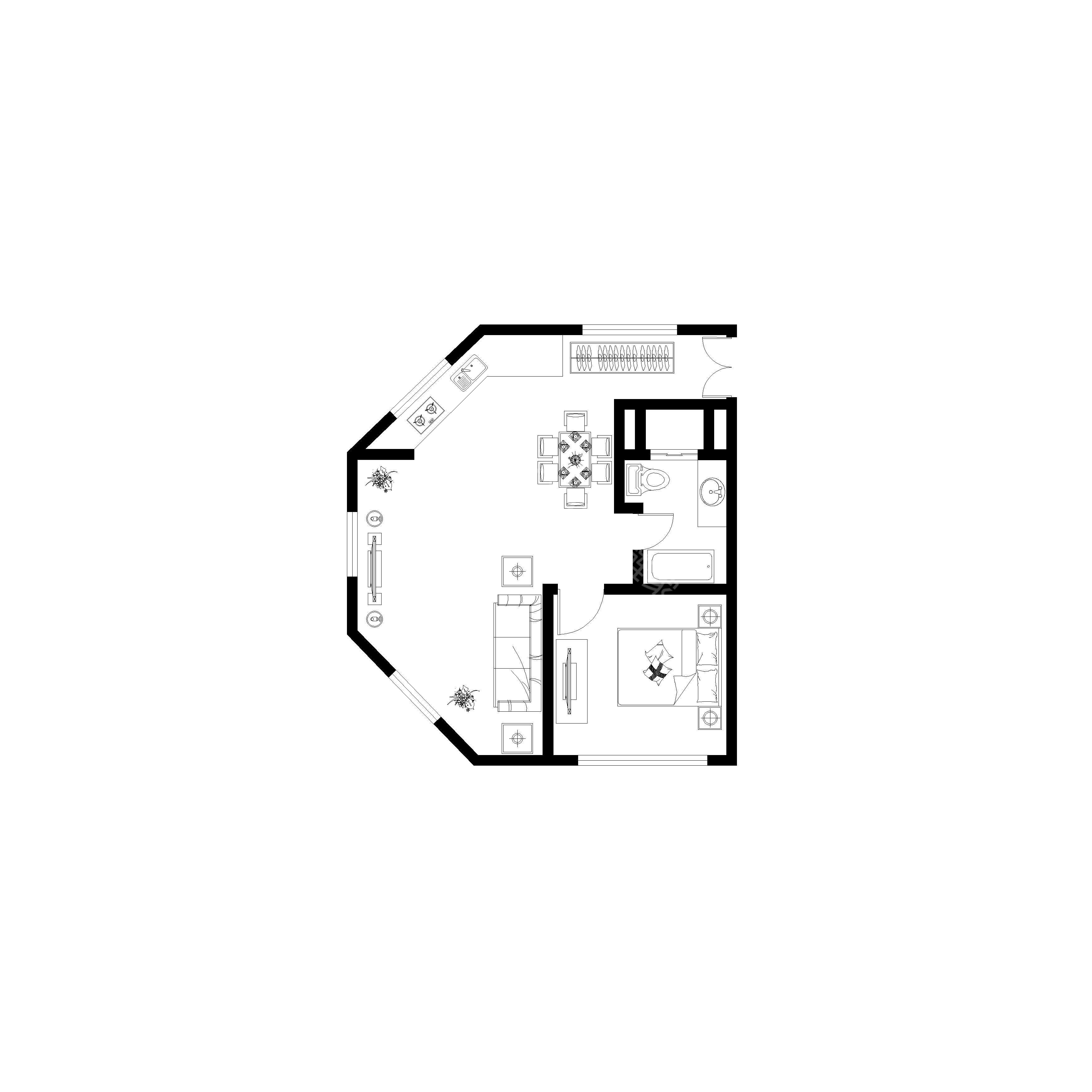 三层两间房屋设计图展示