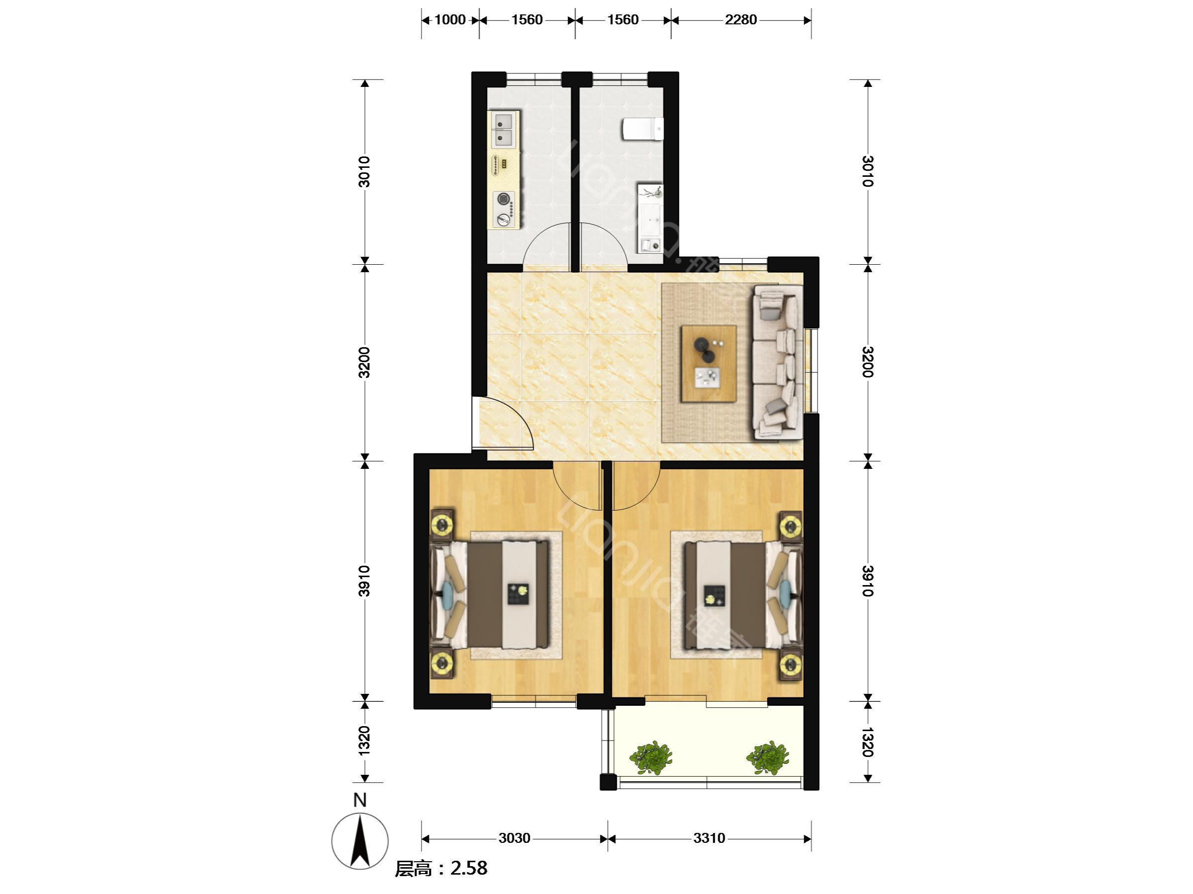 房屋室内电路排线