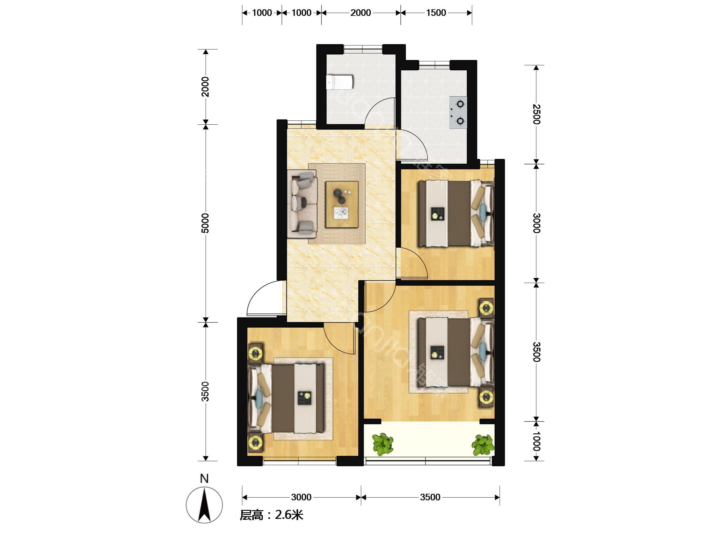 1百平米房屋设计图