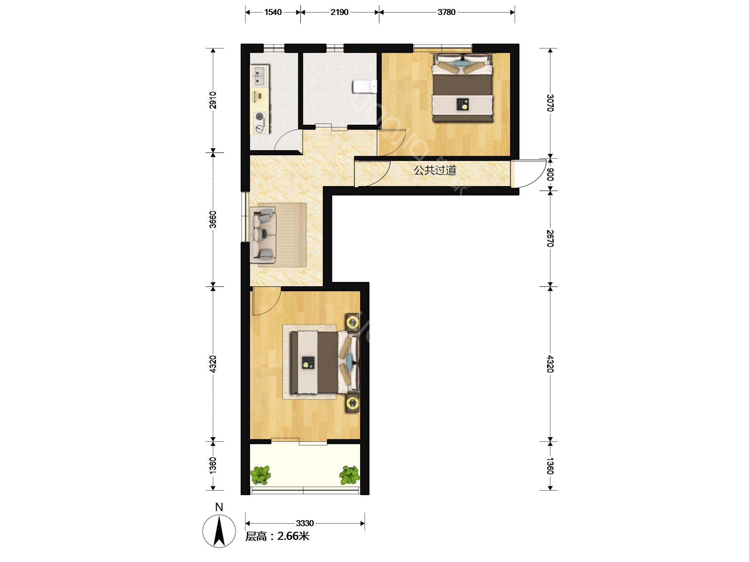 120三室一厅设计图 宽300×300高 四室一厅房屋设计图_土巴兔装修
