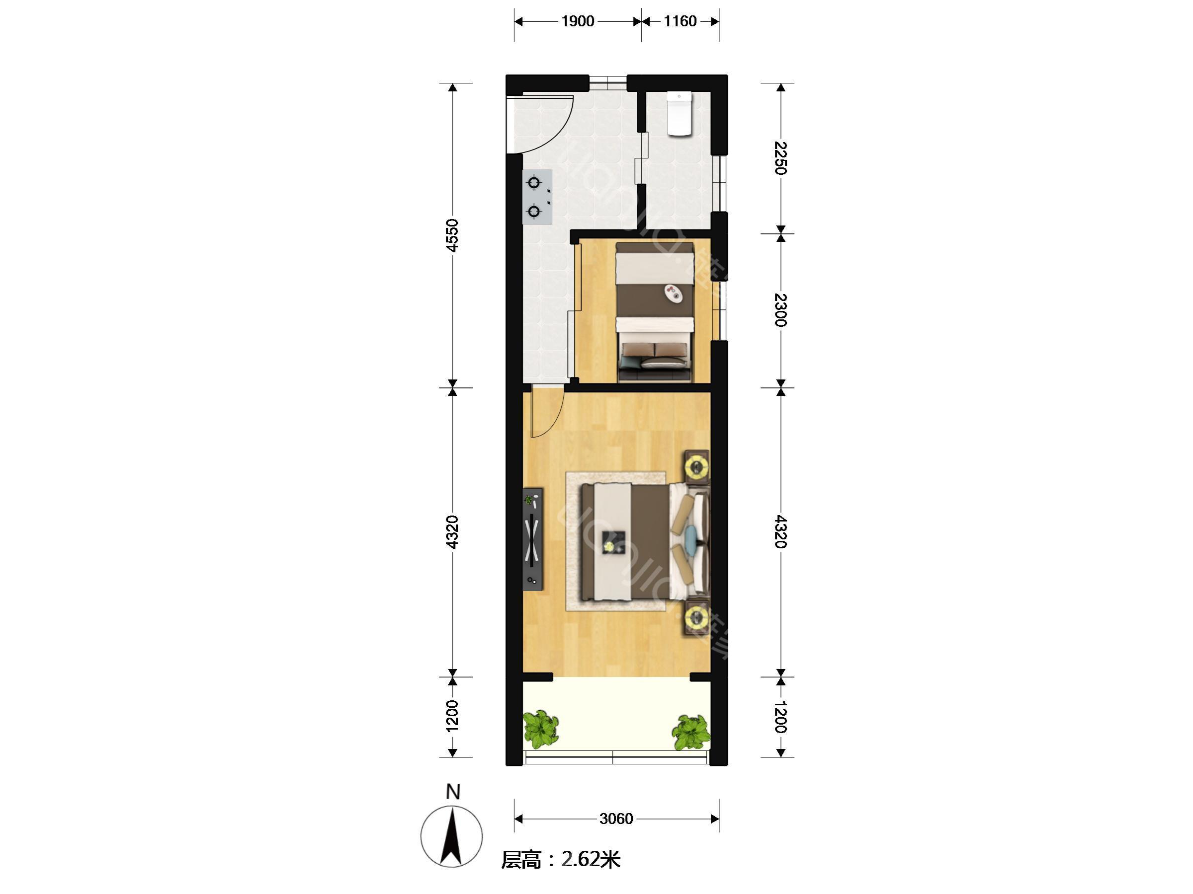 房屋已精心设计,格局非常合理,充分利用好每一平空间,疏密相宜!