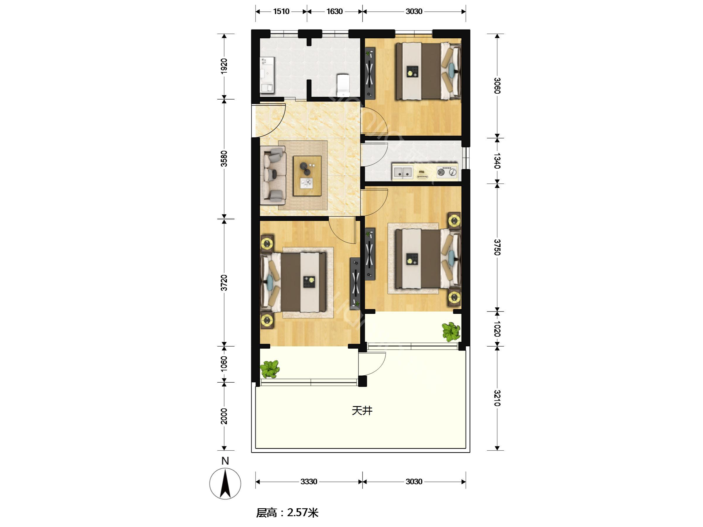 别墅卫生间平面设计图展示