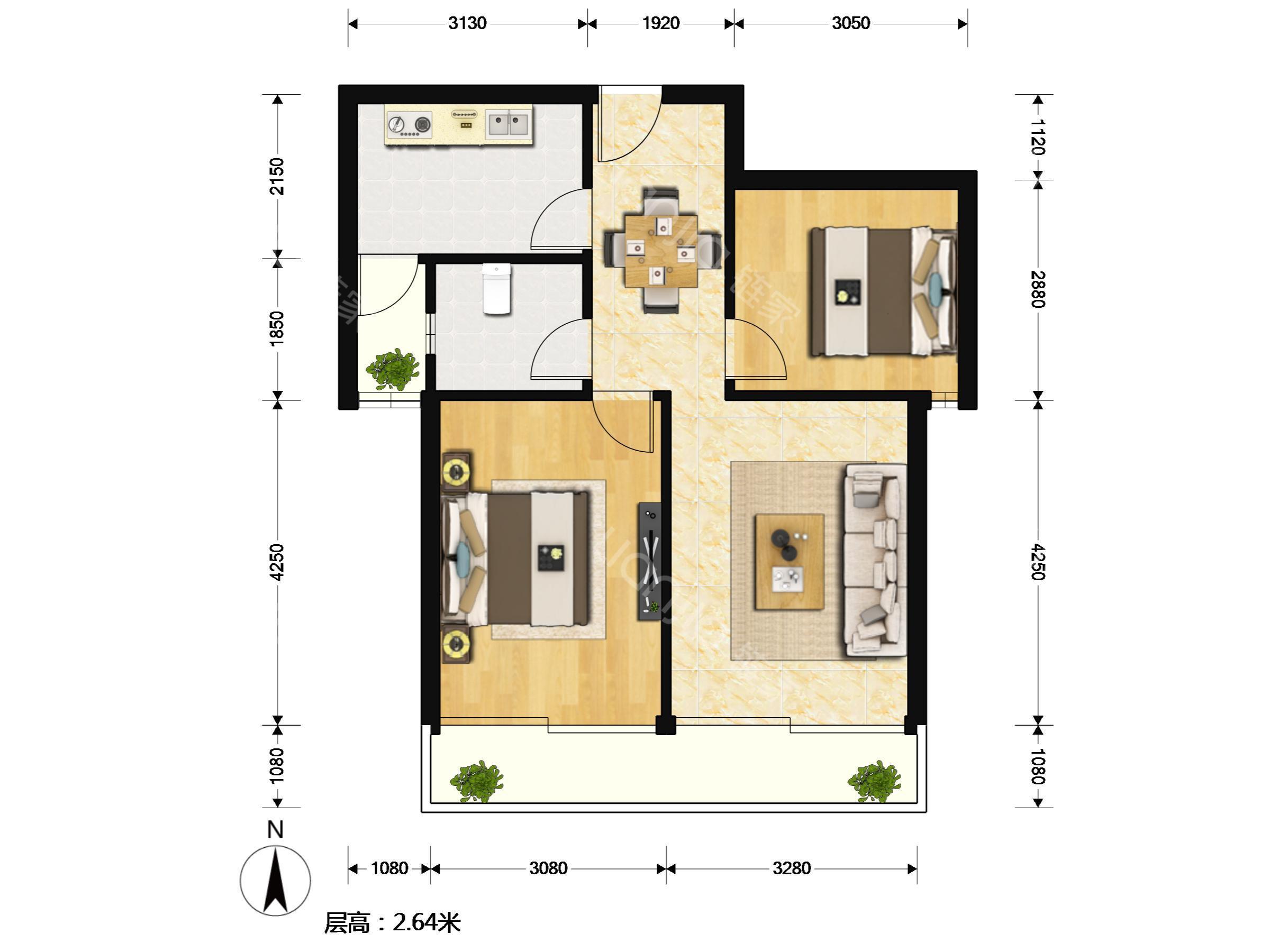 假2层楼房设计图